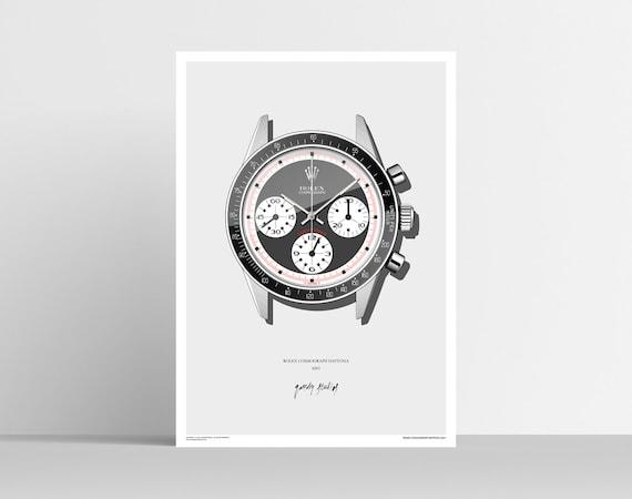 Rolex Daytona 6241 Poster A2 Etsy