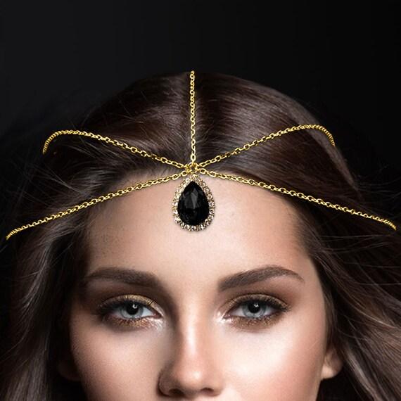 Diamante Pelo Cabeza Cadena cabeza cabeza Joyas Matha Patti Grecian Bohemio