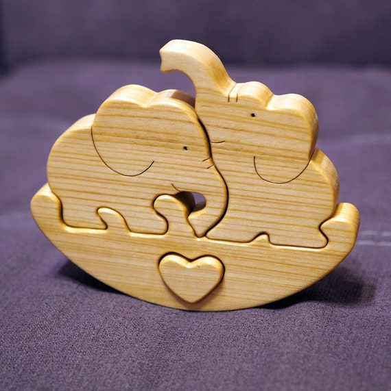 Wooden balance toy, swing game elephant family figures, wooden puzzle toys, kids gift Montessori material, Waldorf animals, for baby toddler