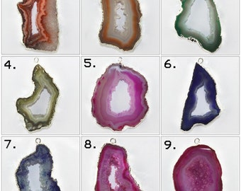 Finding Geode Connectors Natural Pink Geode slice Gold Plated Edge Connectors DIY Geode Connectors Fashionable Jewelry Making Supplies