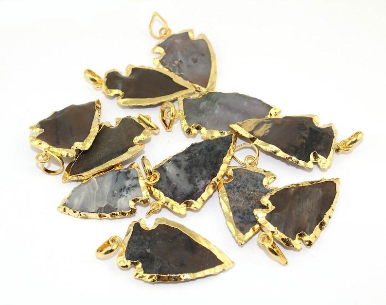 3 Pcs White Agate Uneven Brass Gold Electroplated Pendant,Handmade Pendant,Gemstone Pendant