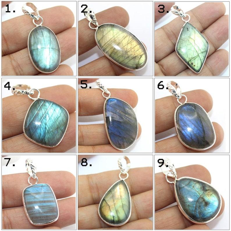 All Beautiful Labradorite Stone Flashy Spectrolite Natural Rainbow Labradorite Freeform Shaped Pendant Silver Labradorite Pendant Charm
