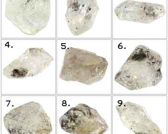 Exclusive Natural Raw Herkimer Diamond QUARTZ Big Size Raw Included Clear Quartz Crystals Herkimer Diamond Loose Gemstone For Making Jewelry