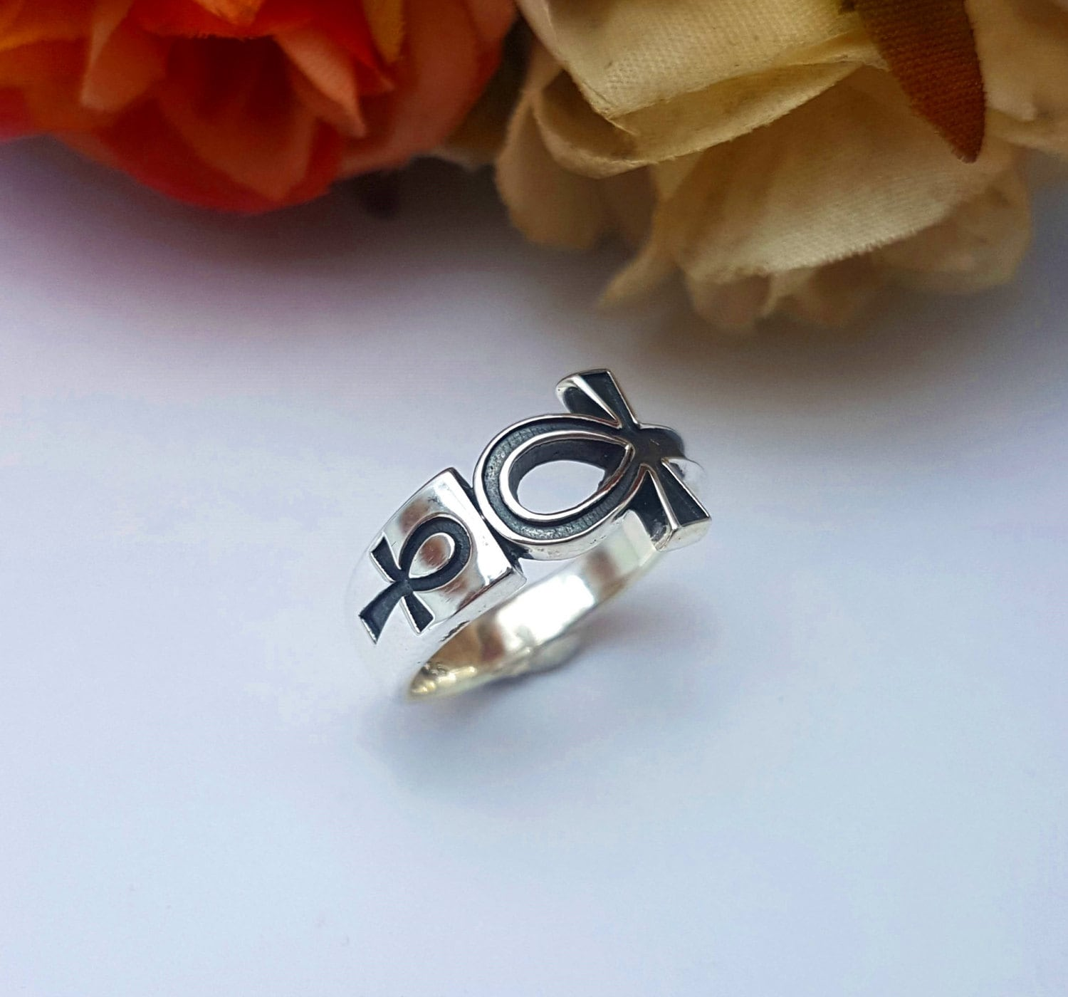 rings eye egypt wedding silver egyptian ring hieroglyphs of ankh udjat horus products sterling
