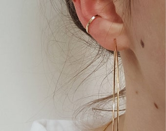 Gold Ear Cuff  -  Hammered Delicate No Piercing Gold Filled Or Sterling Silver Ear Cuff  -  Minimalist Gold Ear Cuff  -  Fake Ear Conch