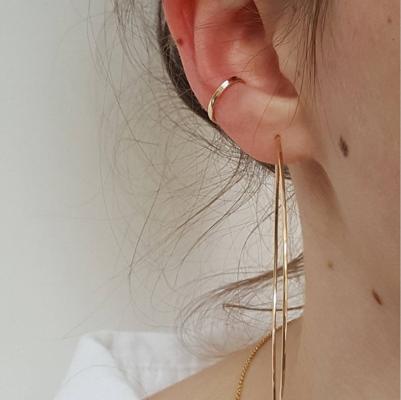 """<Span Data Inner Title="""""""">Gold Ear Cuff     Hammered Delicate No Piercing Gold Filled Or Sterling Silver Ear Cuff     Minimalist Gold Ear Cuff     Fake Ear Conch</Span> by Etsy"""