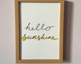 Hello Sunshine Art Print- Instant Download