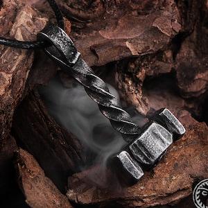 Forged Thor/'s Hammer Pendant Mjolnir Thor Jewelry Viking Jewelry Viking Charm LARP Norse Jewelry Pagan Mjollnir Protection Jewelry