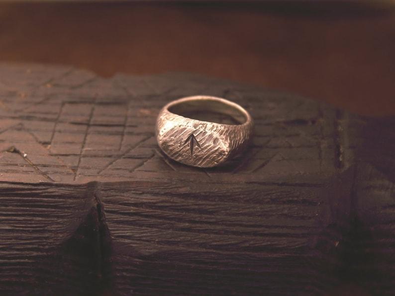 Viking Rune Ring, Rune Jewelry, Pagan Jewelry, Futhark, LARP, SCA,  Reenactment, Nordic, Norse Ring, Signet Ring, Protection Ring, Tiwaz Rune