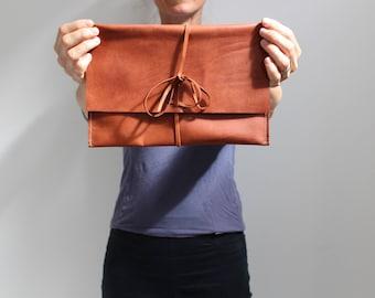 Leather envelope clutch - envelope wallet - leather clutch purse - leather clutch wallet - leather clutch bag - wallet minimalist - wallet