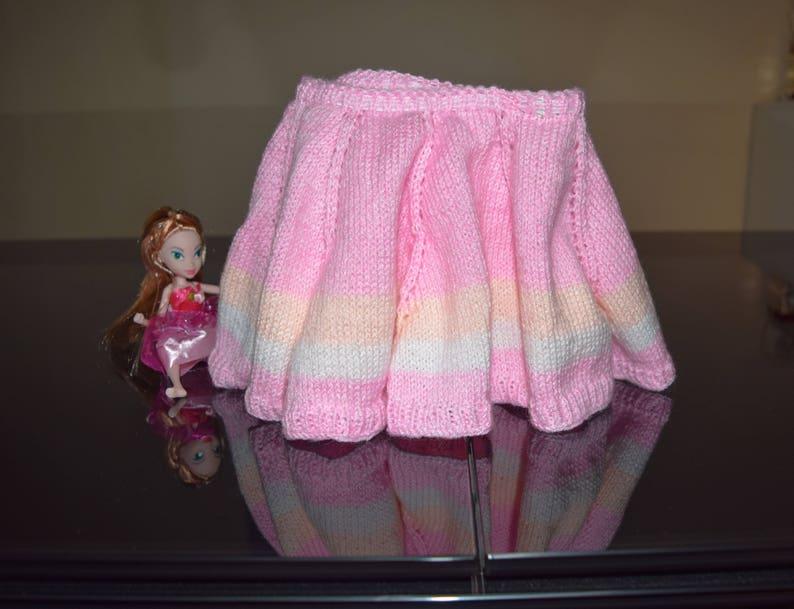 Girls Skirt Baby or toddler,Premium Acrylic Yarn Hand knitted Skirt Handmade Gift Pink Skirt Baby tutu,Size 6-12 months