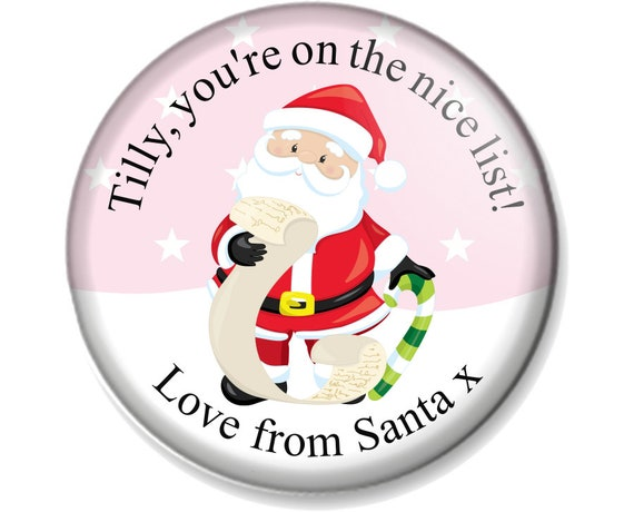 25mm Pin Button Badge Father Christmas Santa Claus Elves Festive Elf 1 Inch