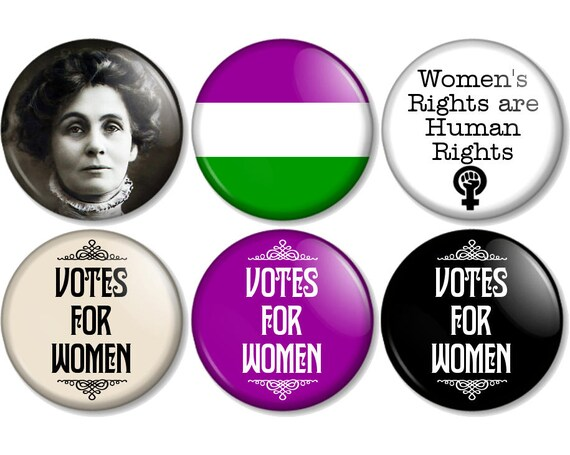 Suffragette 25mm 1 1 Inch Pin Button Badges Emmeline Etsy