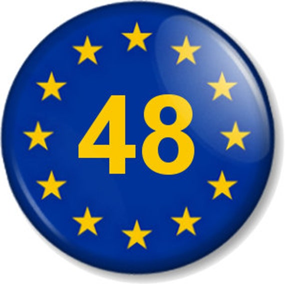 People/'s Vote BUTTON PIN BADGE 25mm 1 INCH UK Brexit Europe EU Flag