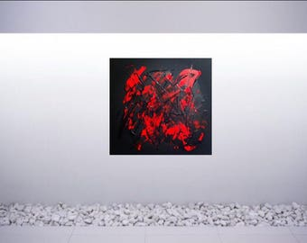 Abstract painting, painting on canvas, acrylic painting, wall decoration