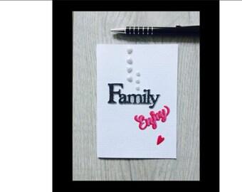 Original handmade greeting card, thank you card, birthday card, wedding card or mothers day