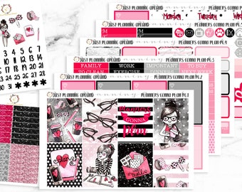 Planners Gonna Plan Planner Kit, Planner Weekly Kit, Planner Girl stickers, for use with Erin Condren