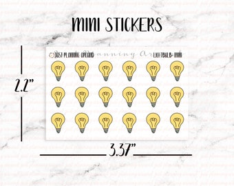 Lightbulb Planner Stickers, Electricity Stickers, Finance Stickers, Utilities Stickers, Hand Drawn Stickers