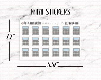 Calculator Planner Stickers, Budget stickers, Finance Stickers, Hand Drawn Stickers