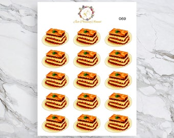 Lasagna Stickers, Food Stickers, for use with  Erin Condren, Happy Planner