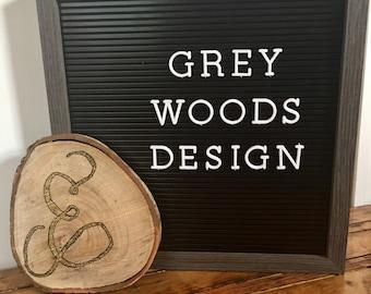 New | Ampersand Wood Slice | Gold Glitter | Wood Slice | Wood Sign | Rustic Sign