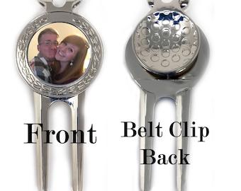 Custom Divot Tool with Photo Marker - FREE SHIPPING - Personalized Divot Tool - Golf Tool - Custom Ball Marker - Photo Divot Tool