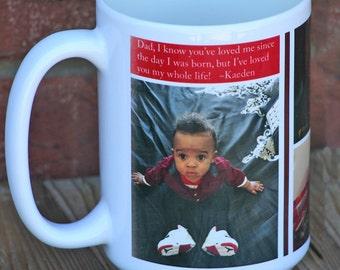PERSONALIZED Coffee Mug - FREE SHIPPING - Tea Cup, Tea Mug, Custom Mug, For Dad