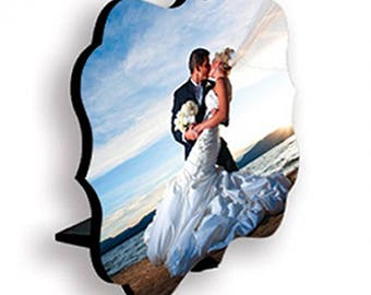 5x7 Benelux Photo Panel with Stand - Free Shipping - Personalized - Wedding - Engagement - Valentine's Day - Any Occasion
