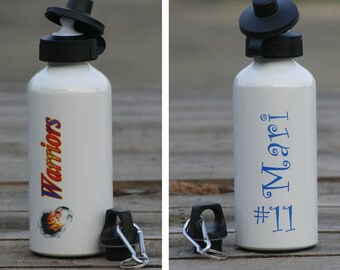Custom personalized 600 ml (20 oz) aluminum water bottle - FREE SHIPPING