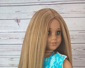 """Custom 10-11"""" Doll Wig Fits Most 18"""" Dolls Gorgeous """"Animal Crackers""""- Heat Safe"""