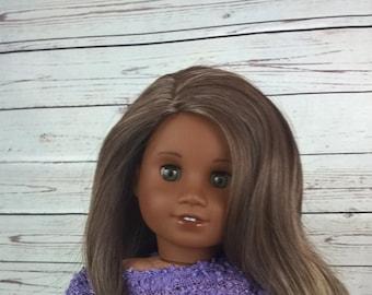 "Custom 10-11"" Doll Wig Fits Most 18"" Dolls, Blythe, 1/4 Sized Dolls and More ""Mink"" Heat Safe"
