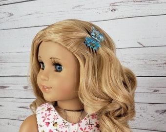 "Custom 10-11"" Doll Wig Fits Most 18"" Dolls Gorgeous ""Golden Blonde Posy""  Heat Safe"
