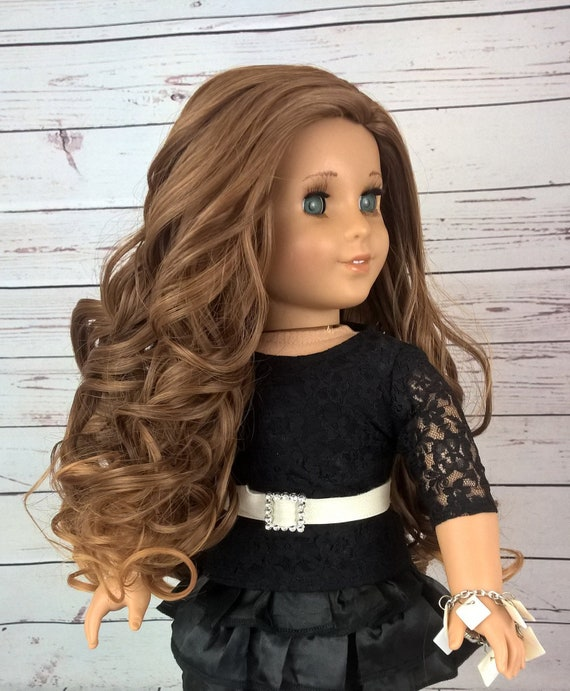 American Girl doll Natural wig Coffe Heat safe Fits most 18/'/'dolls Blythe OG