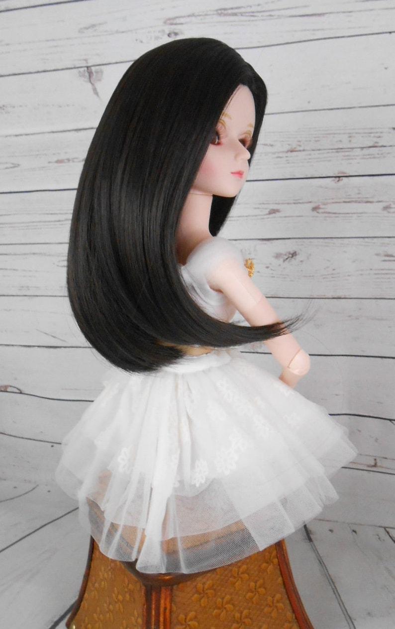 "8-9 Black Dollmore /"" Ample Cut Wig 1//3 BJD SIZE SD Wig"