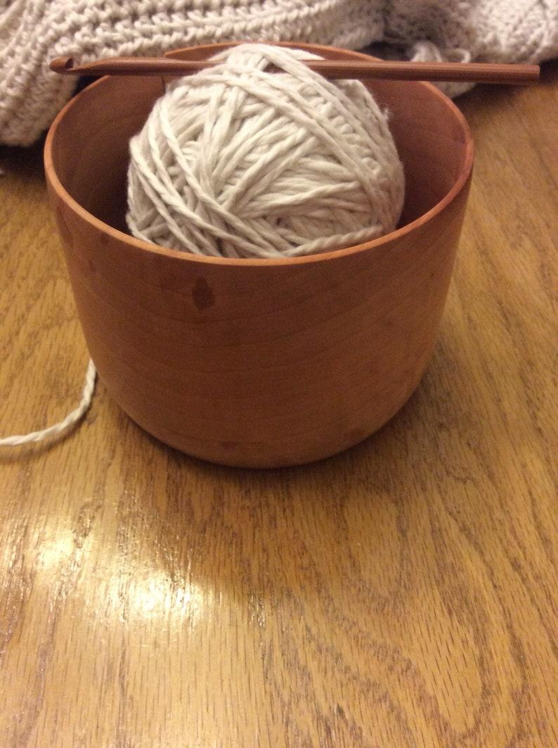 Wooden yarn bowl Cherry