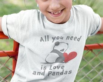 c14d43c41d Kids Panda Shirt- Cute Panda Shirt -Cool Panda Shirt - Cool Kids Panda -Funny  Kids Panda - Best Panda Tee -Girls Panda Shirt Girl's T-Shirt