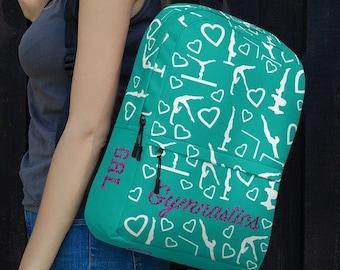 e5cff52837d4 Gymnastics Backpack -Back to School and Gymnast Gift - Gymnasts Backpack- Gymnastics  Gift- Girl gymnastic Backpack- Funny Gymnast Bag