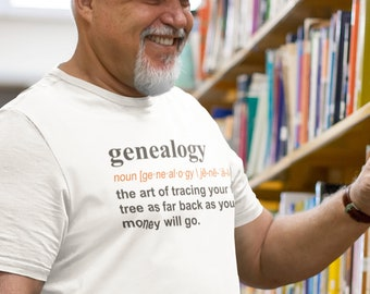 Genealogy Tshirt Etsy