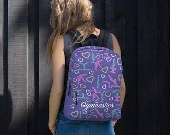 1c406122e26b Gymnastics Backpack - Gymnasts Backpack - Gymnastics Gift - Gymnastics Gift  backpack - Girls gymnastics Bag - Cute Gymnastics Backpack