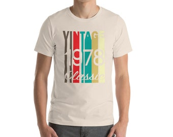 40th Birthday Shirt - Fortieth Gift - Fortieth Birthday - 40th Birthday gift - Vintage 1978 shirt - Retro 40th shirt - Born in 1978 shirt