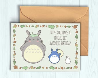 Kikis delivery service birthday card etsy totoro birthday card m4hsunfo