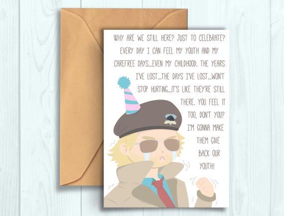 Miller Why Are We Still Here Birthday Card Etsy Der sohn eines amerikanischen offiziers und einer japanerin wurde während der besetzung japans geboren. miller why are we still here birthday card