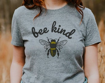 5c9b62722afe4 Bee Kind Soft Unisex T-shirt Minimal Fan Tee Top Fun Summer Be Kind Nice  Fresh Aesthetic Spring Bees Nature Summer Gift