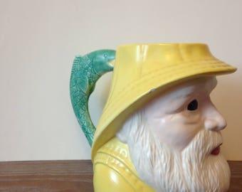 Ceramic Fisherman Mug w/Fish Handle