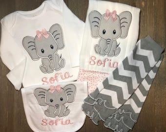 4aa7852b2fef10 Elephant Shirt for baby girl