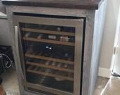 X large Single one bay mini fridge cabinet Farmhouse style cabinet x large wine fridge