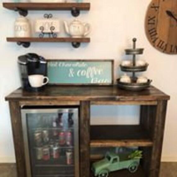 Coffee bar / mini fridge cabinet / Farmhouse style cabinet / | Etsy
