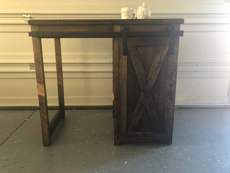 Astounding Coffee Bar Mini Fridge Coffee Bar Cabinet Farmhouse Style Coffee Or Tea Bar Coffee Bar With One Barn Door Slider And Small Storage Home Interior And Landscaping Transignezvosmurscom
