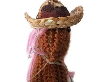 Crochet  Horse Fall Cotton Candy