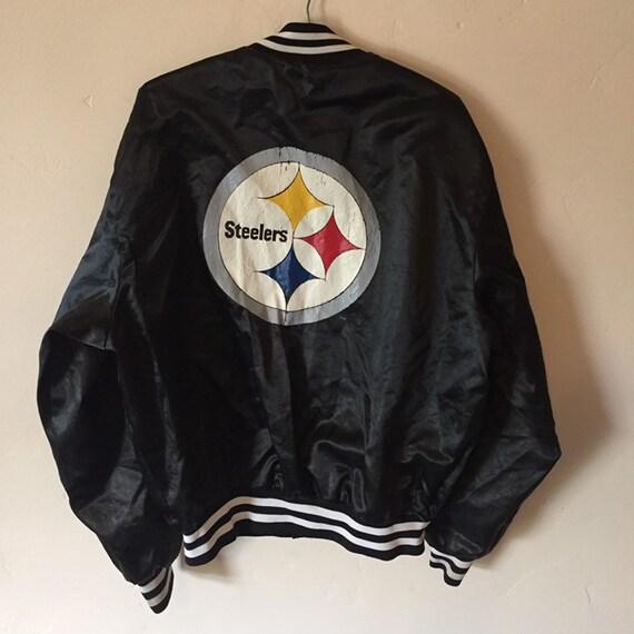 low priced 13e72 1b310 80s Steelers Nylon Bomber Jacket L